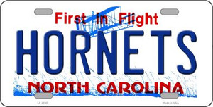 Hornets North Carolina Novelty State Background Wholesale Metal License Plate LP-2565