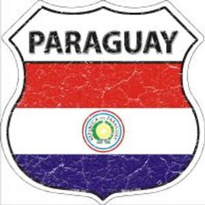 Paraguay Flag Highway Shield Novelty Metal Magnet