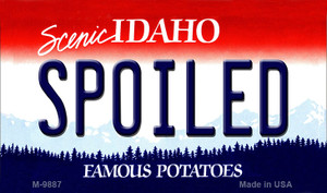 Spoiled Idaho State Wholesale Metal Novelty Magnet