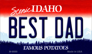 Best Dad Idaho State Background Wholesale Metal Novelty Magnet