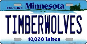 Timberwolves Minnesota Novelty State Background Wholesale Metal License Plate