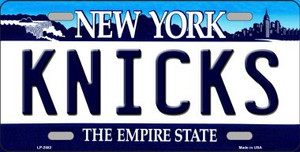 Knicks New York Novelty State Background Wholesale Metal License Plate