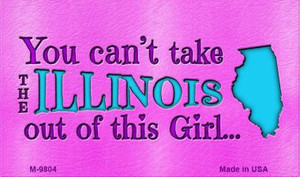 Illinois Girl Novelty Wholesale Metal Magnet M-9804