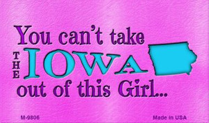 Iowa Girl Novelty Wholesale Metal Magnet M-9806