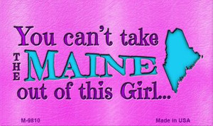Maine Girl Novelty Wholesale Metal Magnet M-9810