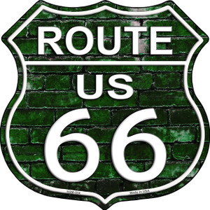 Route 66 Green Brick Wall Wholesale Highway Shield Novelty Metal Magnet