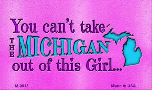Michigan Girl Novelty Wholesale Metal Magnet M-9813