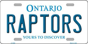 Raptors Ontario State Background Wholesale Metal Novelty License Plate LP-2590