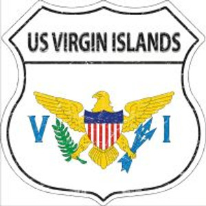US Virgin Islands Flag Highway Shield Novelty Metal Magnet
