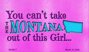 Montana Girl Novelty Wholesale Metal Magnet M-9817