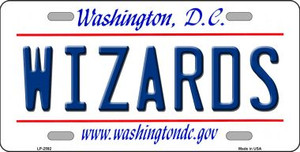 Wizards Washington DC State Background Wholesale Metal Novelty License Plate LP-2592
