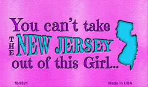 New Jersey Girl Novelty Wholesale Metal Magnet M-9821