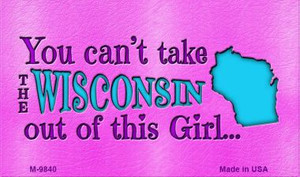 Wisconsin Girl Novelty Wholesale Metal Magnet M-9840