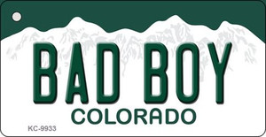 Bad Boy Colorado Background Wholesale Metal Novelty Key Chain