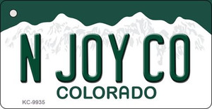 N Joy CO Colorado Background Wholesale Metal Novelty Key Chain