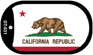 California State Flag Dog Tag Kit Wholesale Metal Novelty Necklace DT-531