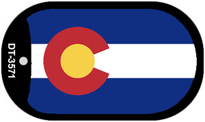 Colorado State Flag Dog Tag Kit Wholesale Metal Novelty Necklace