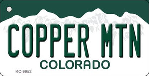 Copper Mountain Colorado Background Metal Novelty Wholesale Key Chain