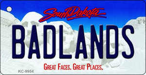 Badlands South Dakota Background Metal Novelty Wholesale Key Chain