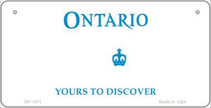 Ontario State Background Novelty Wholesale Bicycle License Plate