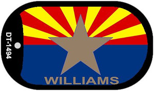 "Williams Arizona State Flag Dog Tag Kit 2"" Wholesale Metal Novelty Necklace"