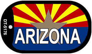 "Arizona State Flag Dog Tag Kit 2"" Wholesale Metal Novelty Necklace"