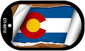 "Colorado State Flag Scroll Dog Tag Kit 2"" Wholesale Metal Novelty Necklace"