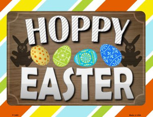 Hoppy Easter Wholesale Metal Novelty Parking Sign