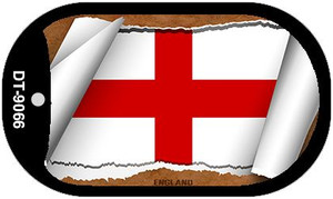 "England Country Flag Scroll Dog Tag Kit 2"" Wholesale Metal Novelty Necklace"