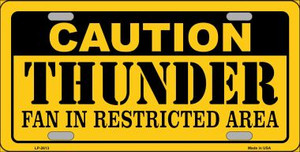 Caution Thunder Fan Wholesale Metal Novelty License Plate LP-2613