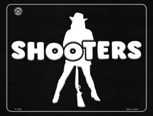 Shooters Wholesale Metal Novelty Parking Sign