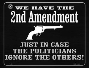 We Have The 2nd Amendment Just In Case Wholesale Metal Novelty Parking Sign