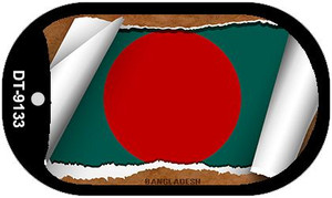 "Bangladesh Country Flag Scroll Dog Tag Kit 2"" Wholesale Metal Novelty Necklace"