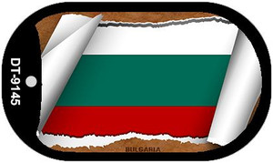 "Bulgaria Country Flag Scroll Dog Tag Kit 2"" Wholesale Metal Novelty Necklace"