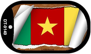 "Cameroon Country Flag Scroll Dog Tag Kit 2"" Wholesale Metal Novelty Necklace"