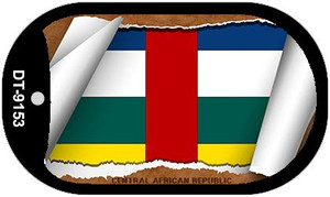 "Central Africa Republic  Country Flag Scroll Dog Tag Kit 2"" Wholesale Metal Novelty Necklace"
