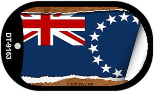 "Cook Island Country Flag Scroll Dog Tag Kit 2"" Wholesale Metal Novelty Necklace"