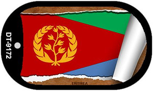 "Eritrea Country Flag Scroll Dog Tag Kit 2"" Wholesale Metal Novelty Necklace"