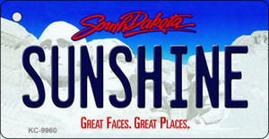 Sunshine South Dakota Background Metal Novelty Wholesale Key Chain