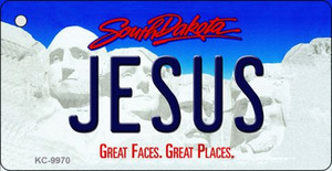 Jesus South Dakota Background Metal Novelty Wholesale Key Chain