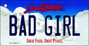 Bad Girl South Dakota Background Metal Novelty Wholesale Key Chain