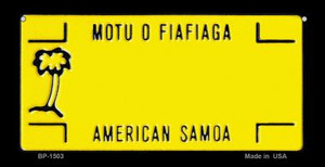 American Samoa State Background Novelty Wholesale Bicycle License Plate