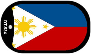 """Philippines Flag Country Flag Dog Tag Kit 2"""" Wholesale Metal Novelty Necklace"""