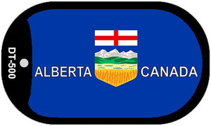 """Alberta Canada Flag Country Flag Dog Tag Kit 2"""" Wholesale Metal Novelty Necklace"""
