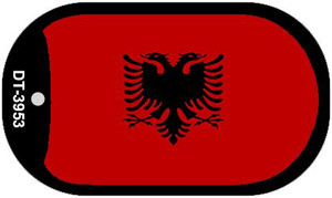 """Albania Flag Country Flag Dog Tag Kit 2"""" Wholesale Metal Novelty Necklace"""
