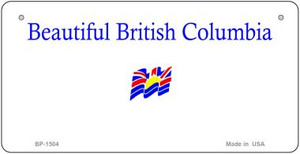 British Columbia State Background Novelty Wholesale Bicycle License Plate