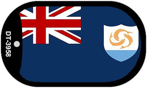 """Anguilla Flag Country Flag Dog Tag Kit 2"""" Wholesale Metal Novelty Necklace"""