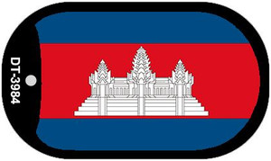 """Cambodia Flag Country Flag Dog Tag Kit 2"""" Wholesale Metal Novelty Necklace"""