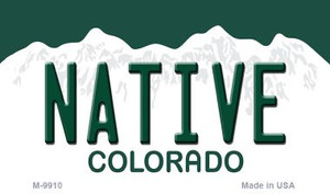 Native Colorado Background Wholesale Metal Novelty Magnet