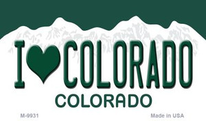 I Love CO Colorado State Magnet Novelty Wholesale